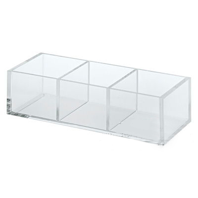 Clear Luxury 3 Grids Acrylic Cosmetic Organizer Display Lucite Jewelry Storage Box For Women Gifts clear acrylic jewelry cosmetic storage display box necklace bracelets gift boxes