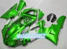 Plstic fairings set for 2000 2001 YZF R1 fairing kit YZF1000 00 01 green white black motorcycle parts