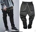 Джастин бибер марка стороны молнии мужчин slim fit повседневные мужские хип-хоп бегуном байкер брюки swag тренировочные брюки узкие брюки Плюс размер