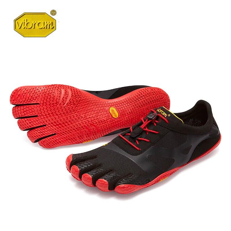 Vibram kso evo fivefingers venda quente design de borracha com cinco dedos ao ar livre deslizamento resistente respirável leve sapato para homem
