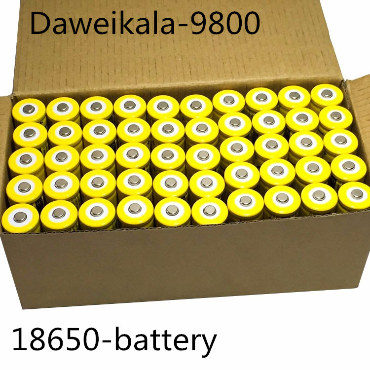 2018 DAA 2 PCS set 18650 battery 3.7V 9800mAh rechargeable liion battery for Led flashlight Torch batery litio battery