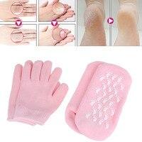 2 пары многоразовые гель-содержащие спа-носки перчатки увлажняющие отшелушивающий крем-пилинг для лица и тела гладкой для рук и ног уход для...