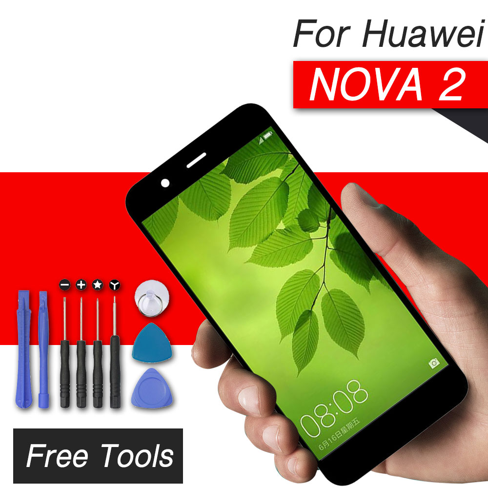 Écran tactile d'affichage à cristaux liquides de prépa pour l'assemblage d'écran de numériseur d'affichage à cristaux liquides de huawei nova 2 pour le remplacement d'affichage de huawei nova 2