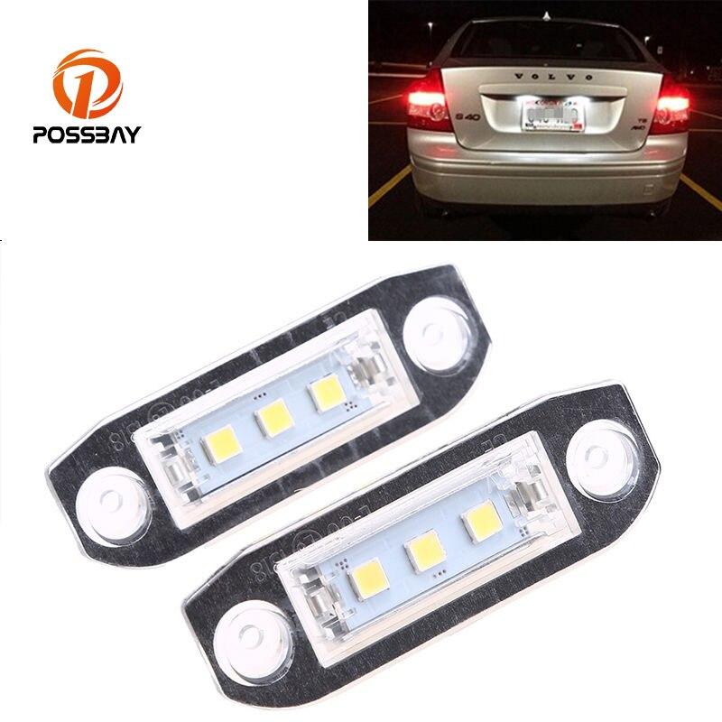Us 1223 15 Offpossbay 1 Para Biały Smd 3 Podświetlanie Led Do Rejestracji Dla Volvo C30 S40 S60 C70 S80 Samochodów Zewnętrzne Oświetlenie Tablicy