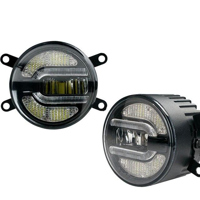 """3.5 """"pouces 90mm Feux de jour Led Brouillard Lumière Lampe Daytime Running Light Bulb pour Nissan Suzuki Mitsubishi Ford Toyota Citroen Renault"""