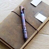 Titanium TC4 Болт Действие Шариковая Ручка Вороненой Поверхности Высокая Прочность Красивые Appearace EDC Играть
