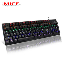 Mechanical Keyboard Backlit Gaming Keyboard RGB PC Gamer Keyboard Mechanical Keycap Computer Ergonomic Game Keyboards For Dota