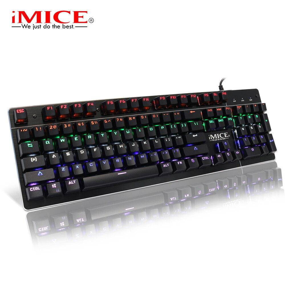 Clavier mécanique clavier de jeu rétro-éclairé clavier rvb PC Gamer clavier mécanique clavier d'ordinateur ergonomique jeu claviers pour Dota