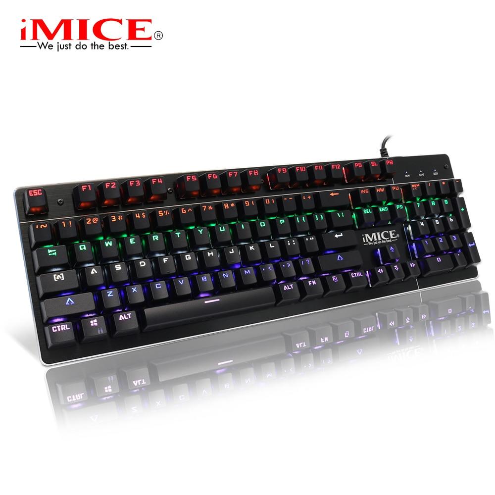 Teclado mecánico retroiluminado teclado para juegos RGB PC Gamer Teclado mecánico Keycap computadora ergonómico juego teclados para Dota