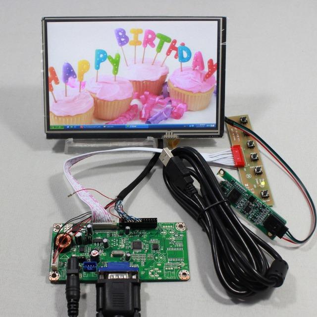 VGA placa controladora do LCD com 7 inch N070ICG LD1 Reversão 30pin 1280x800 IPS lcd com toque para framboesa