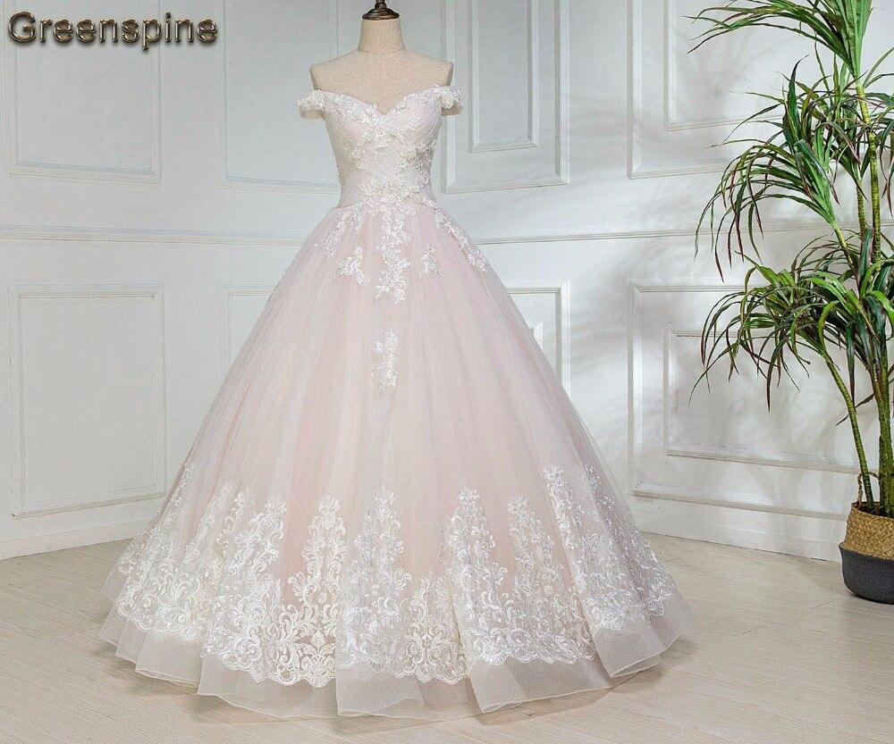 Off The Shoulder Ball Gown Wedding Dress 2019 Vestidos De