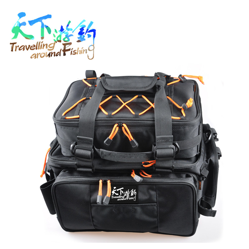 Promotion fishing bag 48 29 22 with small bag inside fish for Fishing tackle backpack