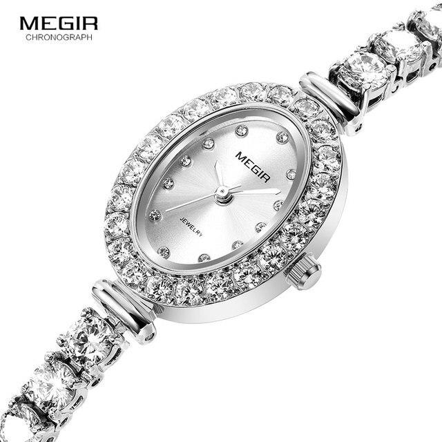 Megir 女性の時計ファッション 2018 新シンプルなアナログ高級腕時計女性 Relogios Femininos 時計 4206 白