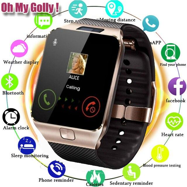 Bluetooth relógio inteligente dz09 para apple relógio com câmera 2g sim tf slot para cartão smartwatch telefone para android iphone xiaomi rússia t15