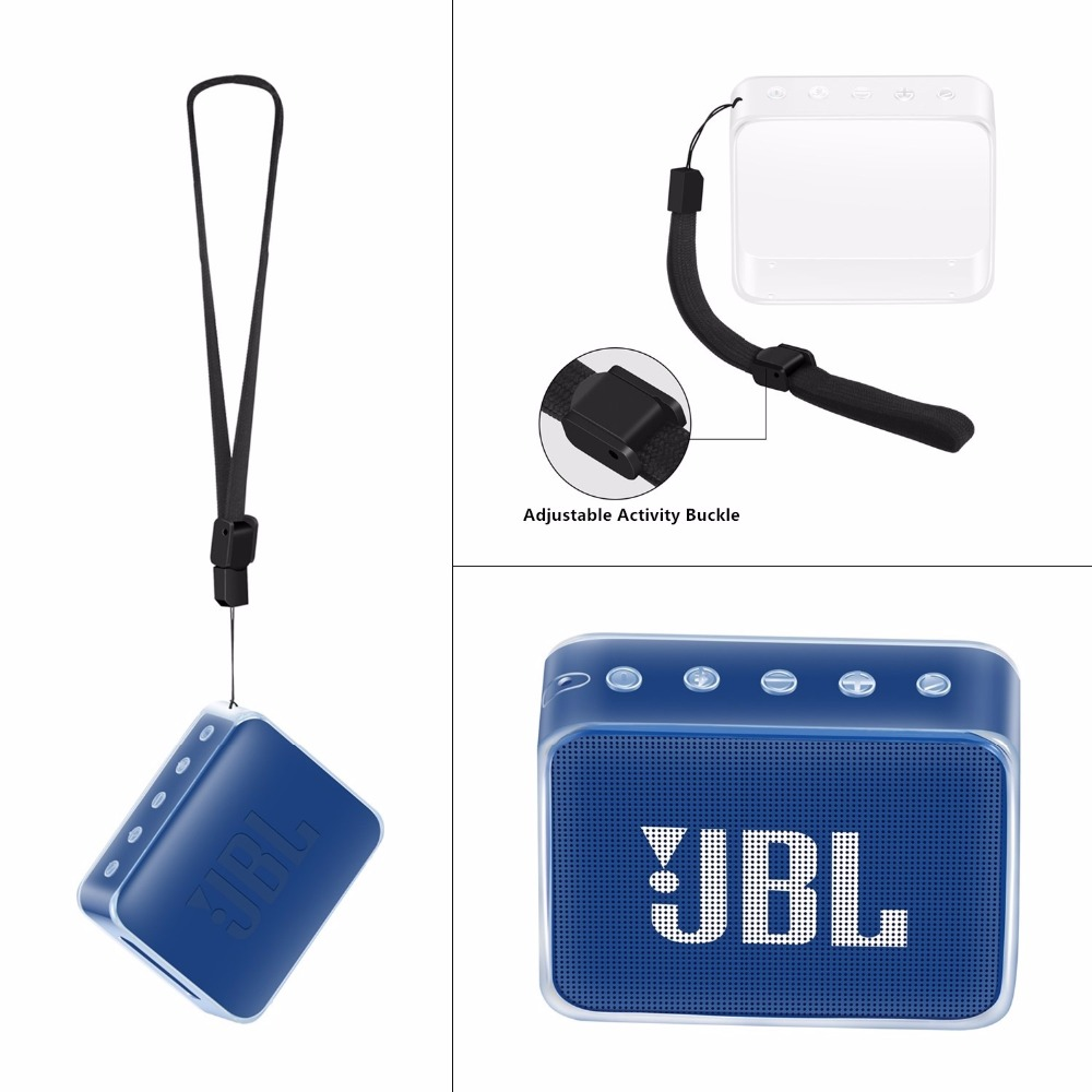 2020  Newest Durable Silicone Cover Carrying Sleeve Bag Pouch Case For JBL GO 2 GO2 Portable Bluetooth Waterproof Speaker