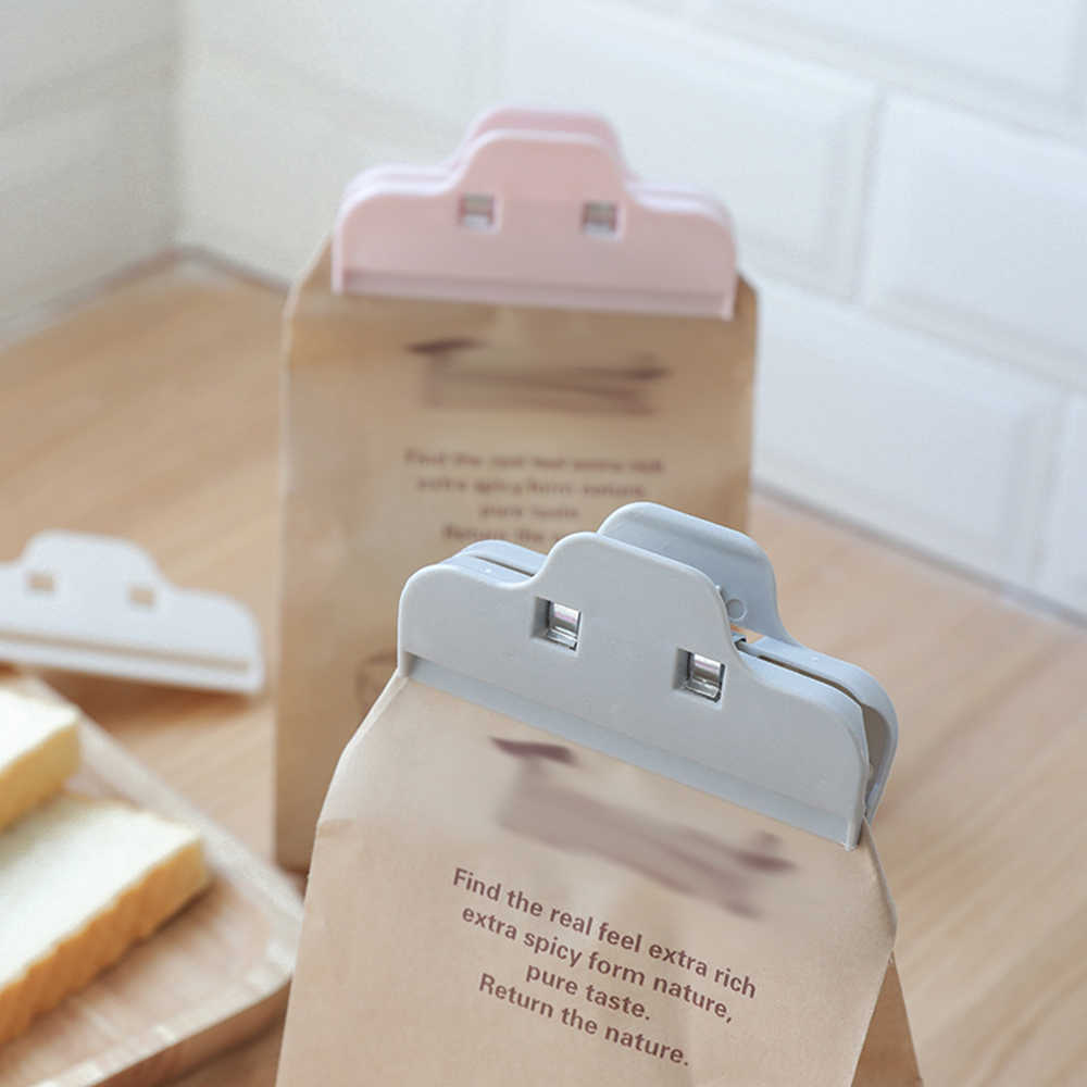1PC Powder Food Package Bag Clip Baby Dried Milk Sealed Clips Portable Plastic Practical Food Sealing Clamp Strong Clip