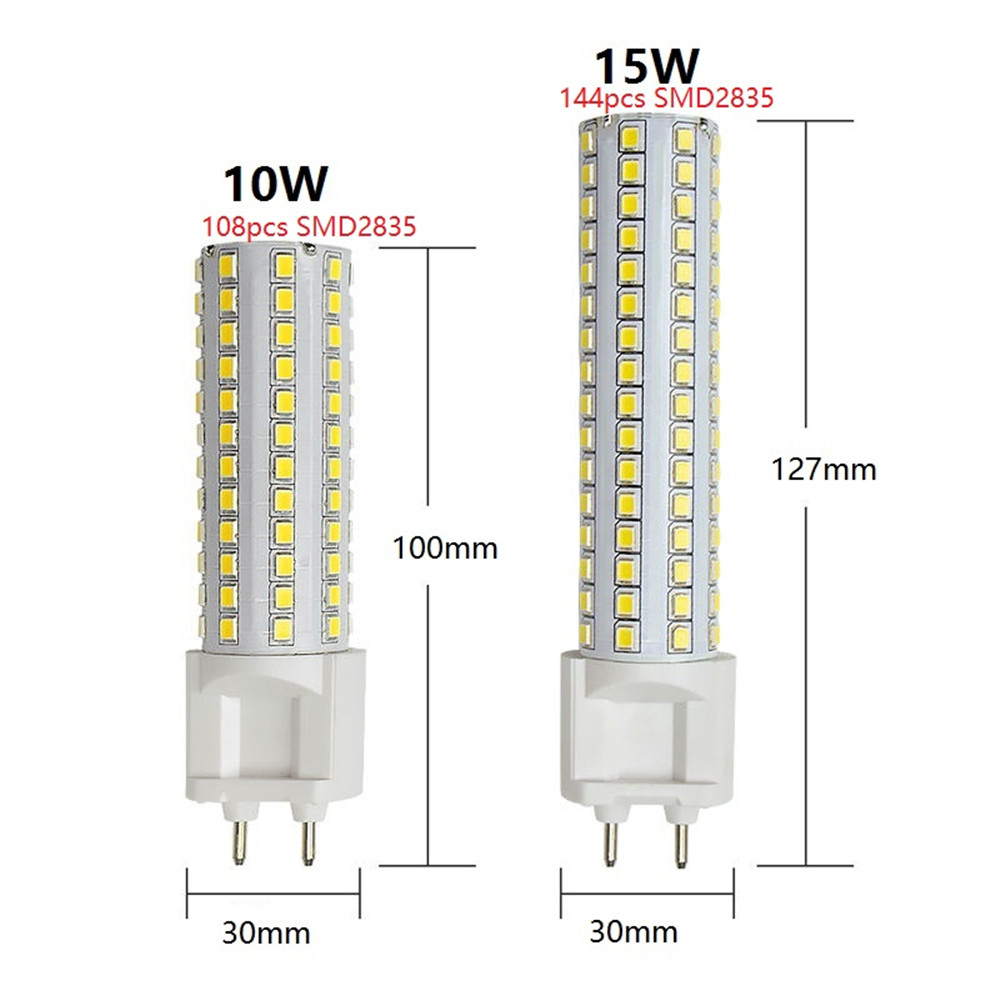 10W 15W G12 Light Corn light LED Bulbs 108PCS 144PCS SMD2835 AC85-265V Lamp High Brightness Indoor Home Lighting ...