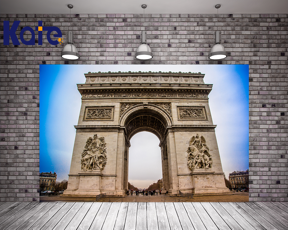 Kate Digital Printing Photography Backdrops Blue Sky France Arc De Triomphe For Wedding Photography Studio сумка kate spade new york wkru2816 kate spade hanna