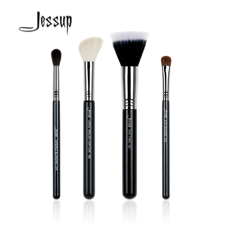 dd628112f 2017 Nuevo Jessup 4 unids alta calidad pro cosmética Cepillos conjunto  Fundación belleza Herramientas fibra Contour sombra de ojos Polvos de  maquillaje ...