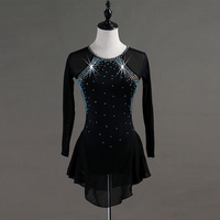 crystal custom figure skating dress woman kids girl adult ice skating dress figure skating dress Long sleeve Customizable color