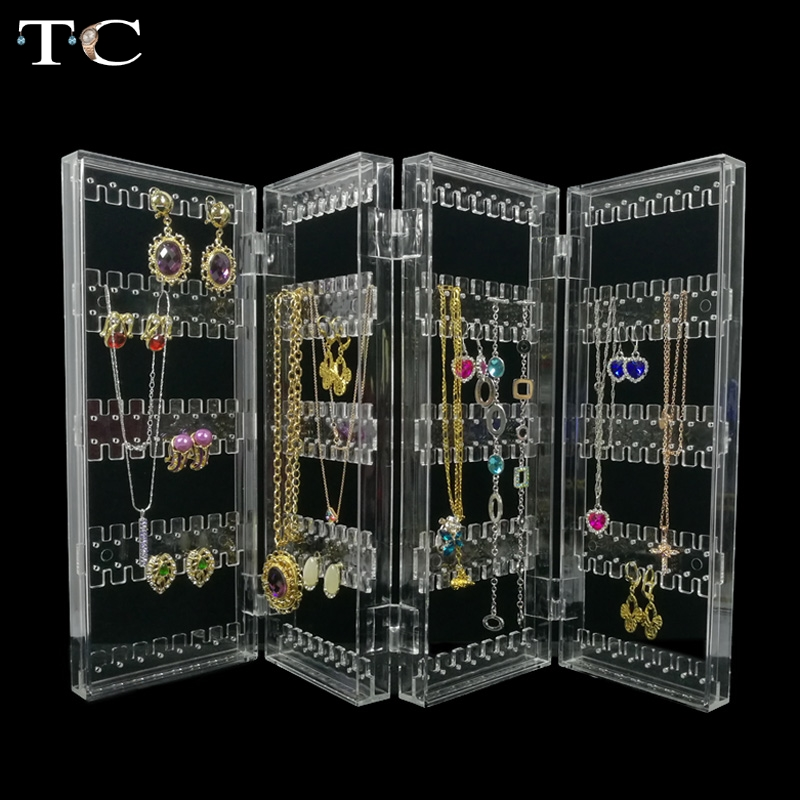 Clear Acrylic Jewelry Display earring pendant holder ...