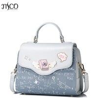 2017 Brand Designer Summer Women S Top Handle Bag PU Leather Emboridery Flap Tote Bag Cute