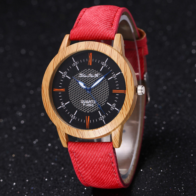 Designer Nature Wooden Watch Bracelet Watches Clock Minimalist Clock Bamboo Deni