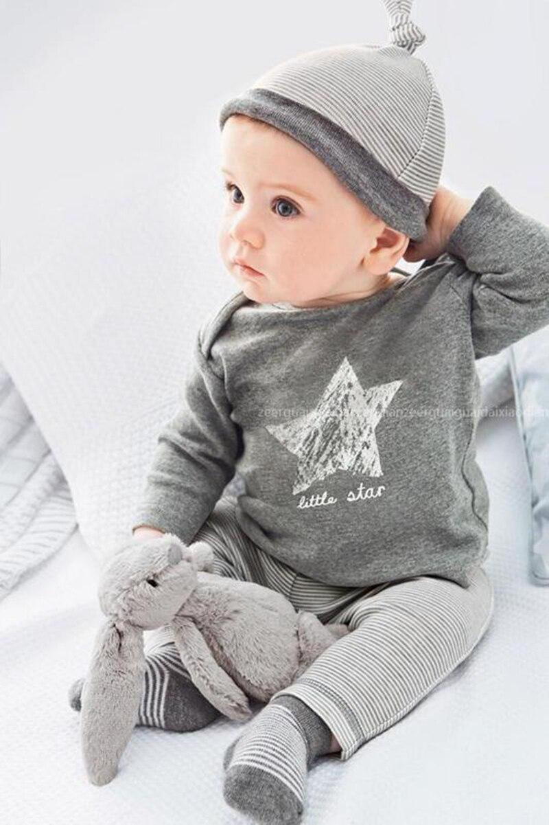 Nuevo mameluco de bebé, ropa de bebé, lindo algodón de Super Star (superior + inferior + sombrero) Bebe niños pequeños mamelucos 1 set envío gratis HB049