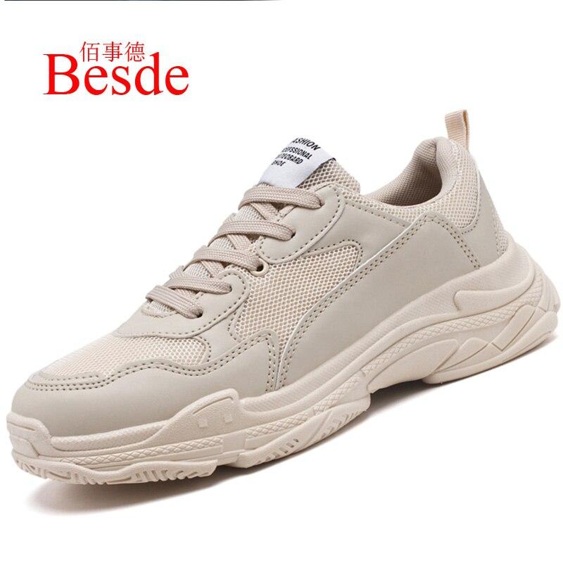 Augmenter baskets hommes automne chaussures 2019 à la mode élégant coton tissu couture homme baskets noir chaussures grande taille 38-45