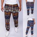 Fashionable New Men's Stretchy Breathable Pockets Design Chic Colorful Tie Rope Pants Trousers