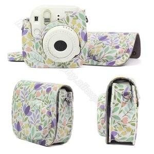 Image 2 - Fujifilm Instax Mini Camera Kleurrijke Case Voor Fuji Instax Mini 9 8 Camera Met Pu Leer Rose Blauw Roze, bos Groen Roze