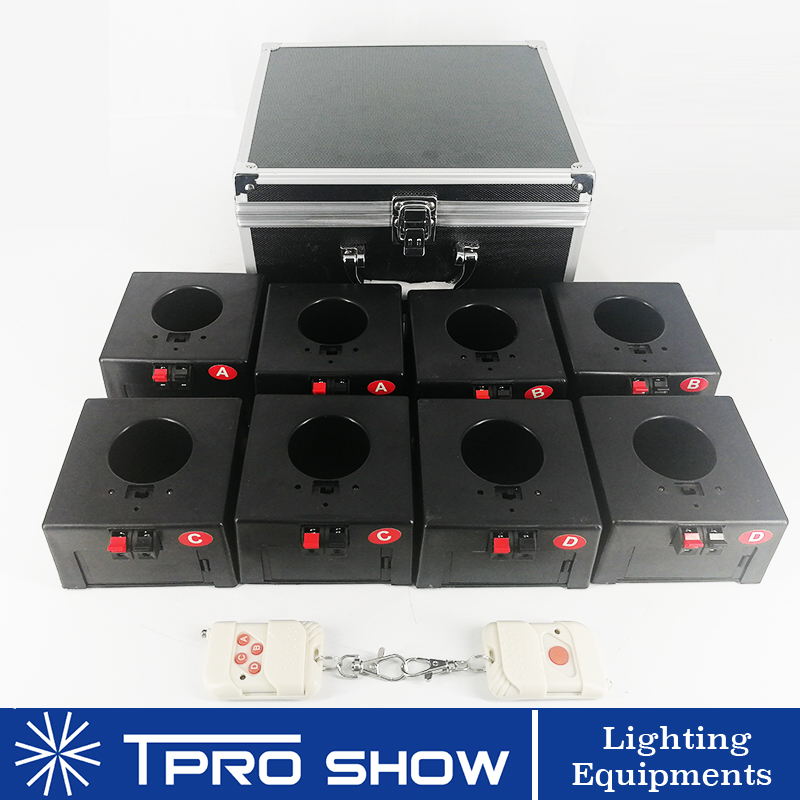 Fireworks Cold Spark Wireless Receiver 8 Cues Wedding Pyrotechnics Machine Remote Stage Fire System 1 Case DHL/TNT/UPS Shipping
