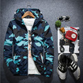1 pcs Homens jaquetas com zíper casacos 2016 Outono Moda high-grade Respirável tecidos de camuflagem Com Capuz Casacos casacos jaqueta de Viagem Mens