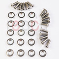 16 PC Prata Lingotes De Alumínio Fender/Bumper Washer Parafuso Motor Bay Dress Up Kit