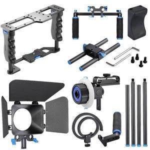 Image 5 - DSLR Rig Video Stabilizer Kit Film Equipment Matte Box+Dslr Cage+Shoulder Mount Rig+Follow Focus for DSLR Camera Camcorder