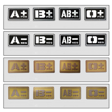 3d PVC Tactical Badge A/B/O/Ab+ Blood Type Patch Morale Patch Military Badges Tactical Rubber Patches For Cap Jacket