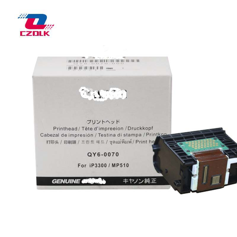 Original QY6-0070 printhead for Canon iP3300 iP3500 Pixma MP510 MP520 MX700 Printer Head free shipping qy6 0041 original and refurbished printhead for canon mp55 s700 s750 f60 printer accessory