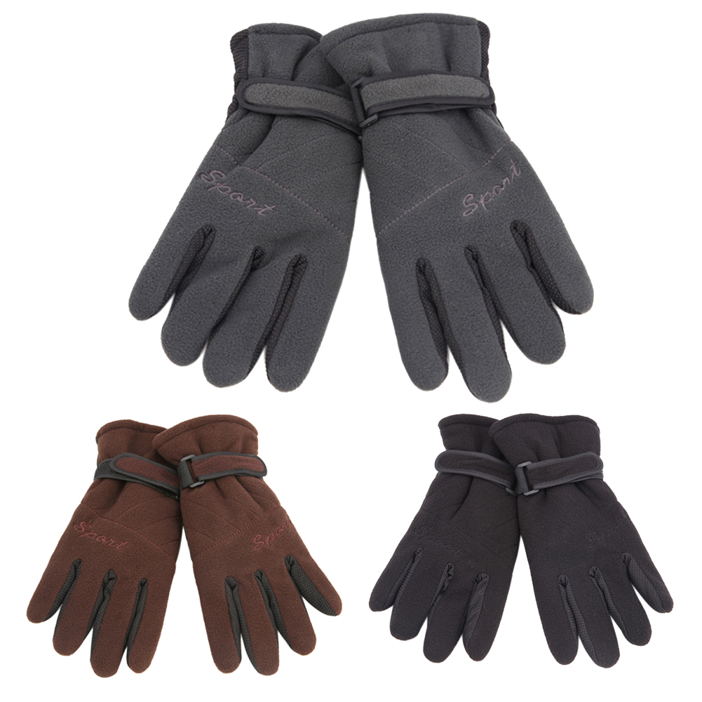 Women Men Polar fleece Winter Warm Motorcycle Riding Ski Gloves Snowboard Gloves guantes ciclismo