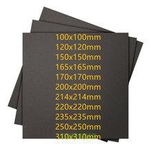 SWMAKER 5 pcs 3D yazıcı süper sopa inşa plaka bant 3D baskı inşa yüzey, siyah kare farklı boyutu 100/150/220/235/250
