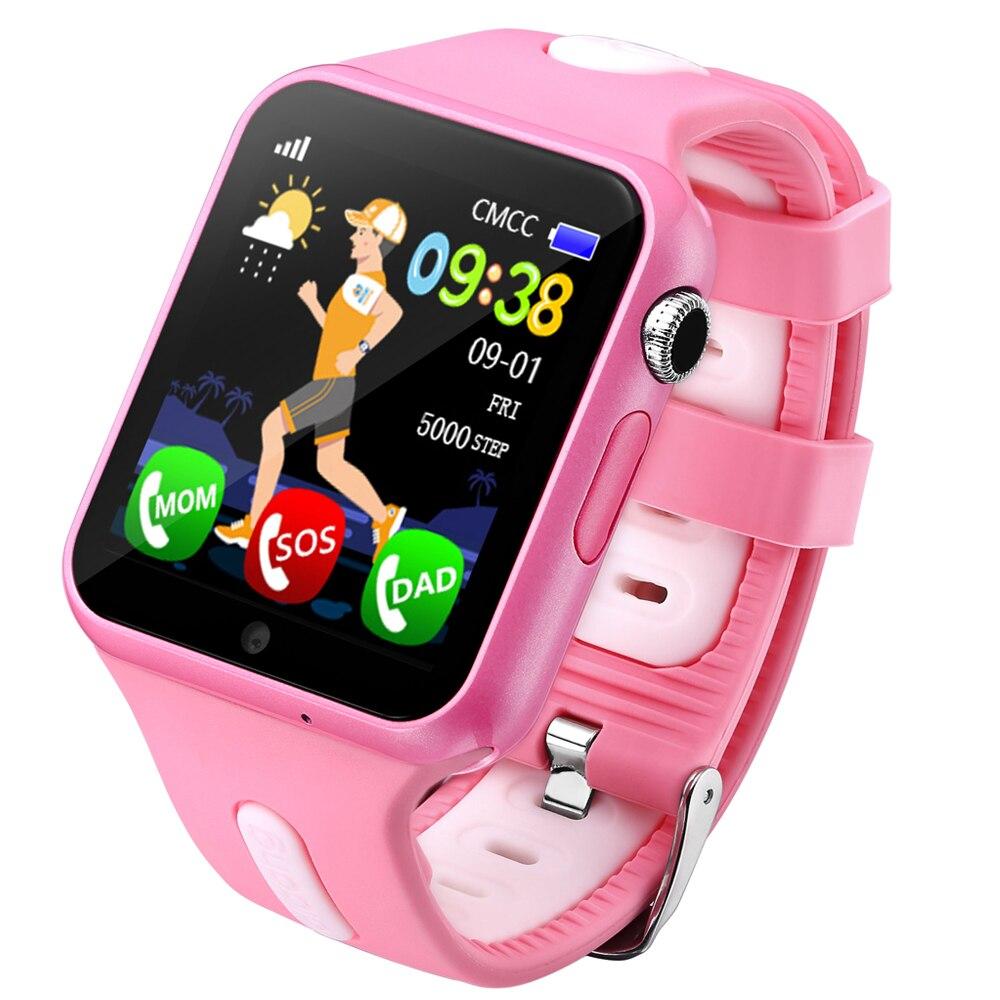 Espanson enfants GPS montre intelligente avec caméra SOS sécurité d'urgence Anti perdu pour ISO iphone Android étanche bébé montre V5