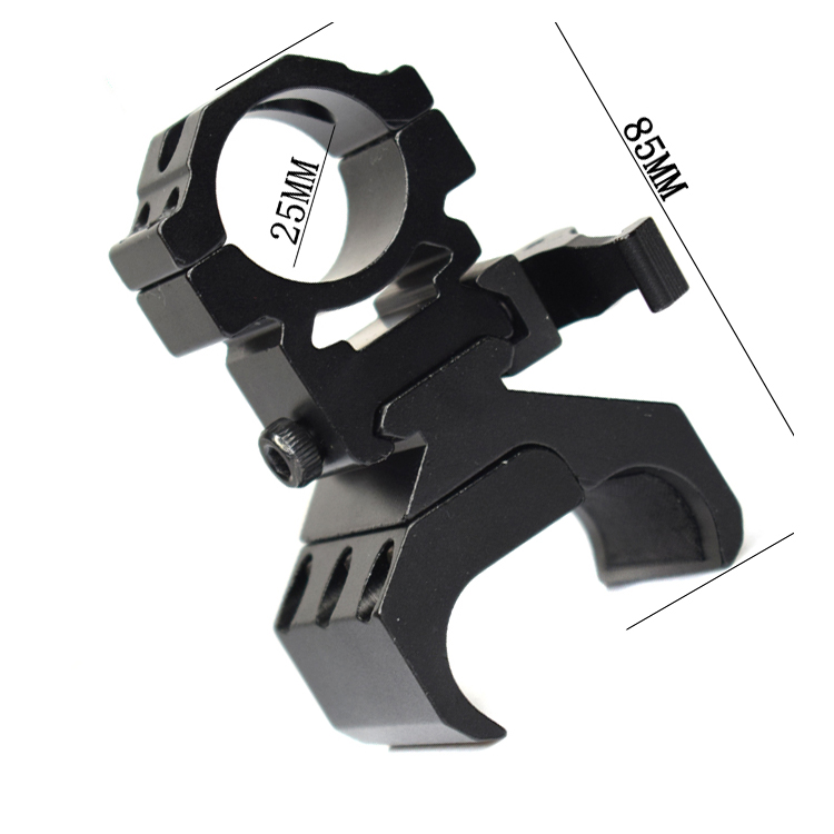 Tactical Gun Rail Mount Adapter Aluminum Alloy Military Hunting Shooting Rifle Gun Accessory Scope Flashlight Mount Holder