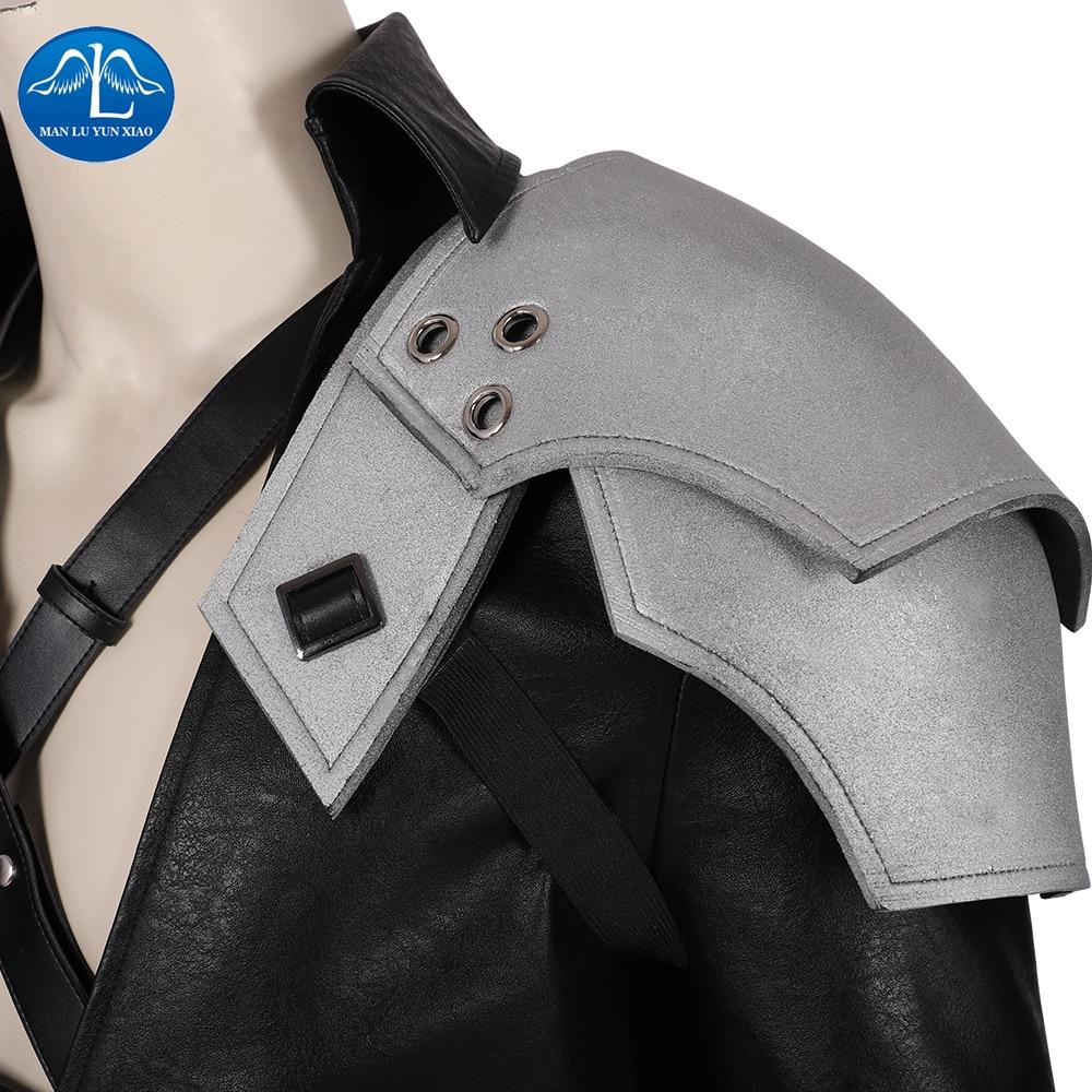 íPromoteSephiroth Cosplay Costume Remake Final Fantasy Halloween Game Men VII Faux-Leatherñ