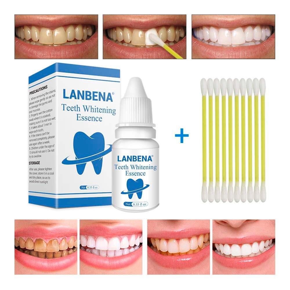 Gesicht Serum Lanbena Zähne Bleaching Essenz Pulver Oral Hygiene Reinigung Serum Entfernt Plaque Flecken Zahn Bleichen Dental Werkzeuge Zahnpasta