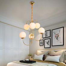 Modern Design Glass Chandeliers For Living Room Bedroom Foyer Lamp Decor Home Lighting Fixtures Lustre E27 Bulb AC110-220V