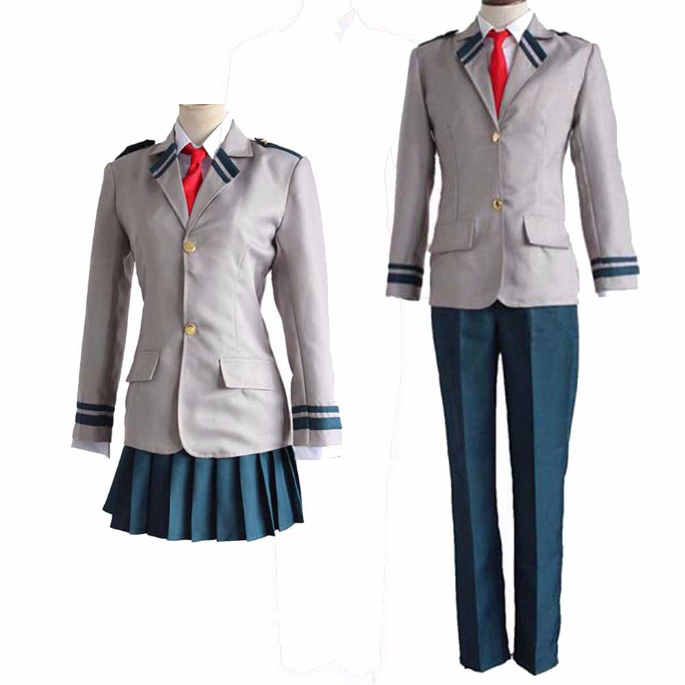 My Hero Academia OCHACO URARAKA Cosplay Boku no Hero Academia AsuiTsuyu Yaoyorozu Momo School Uniform Midoriya Izuku Costume