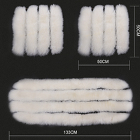 3 Pcs Set Car Cushion Winter High Quality 100% Australia Sheepskin Luxury Fur Long Wool White Car Seat Covers
