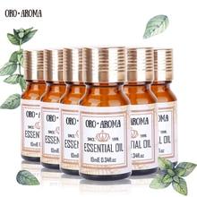 Celebrul brand oroaroma Vanilla Helichrysum Verbena Lavandă de iarbă Lavandă Jasmine Essential Oils Pack Aromaterapie Baie Spa 10ml * 6