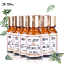 Famous brand oroaroma Vanilla Helichrysum Verbena lemon grass Lavender Jasmine Essential Oils Pack Aromatherapy Spa Bath 10ml*6