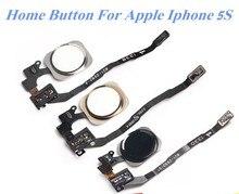 1 шт. новый для Apple Iphone 5S возвращается модуль клавиатуры Оригинальный Touch ID сенсор Главная кнопка Ключ Flex ленточный кабель сборки