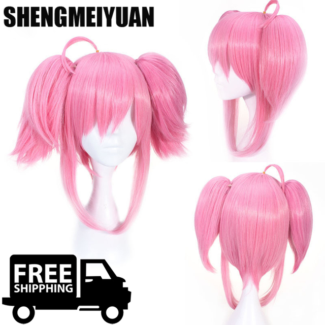 SHENGMEIYUAN Heat Resistant Anime League of Legends Star Guardian LUX LOL Costume Full Lace Cosplay Wig +Free Wig CAP Free ship